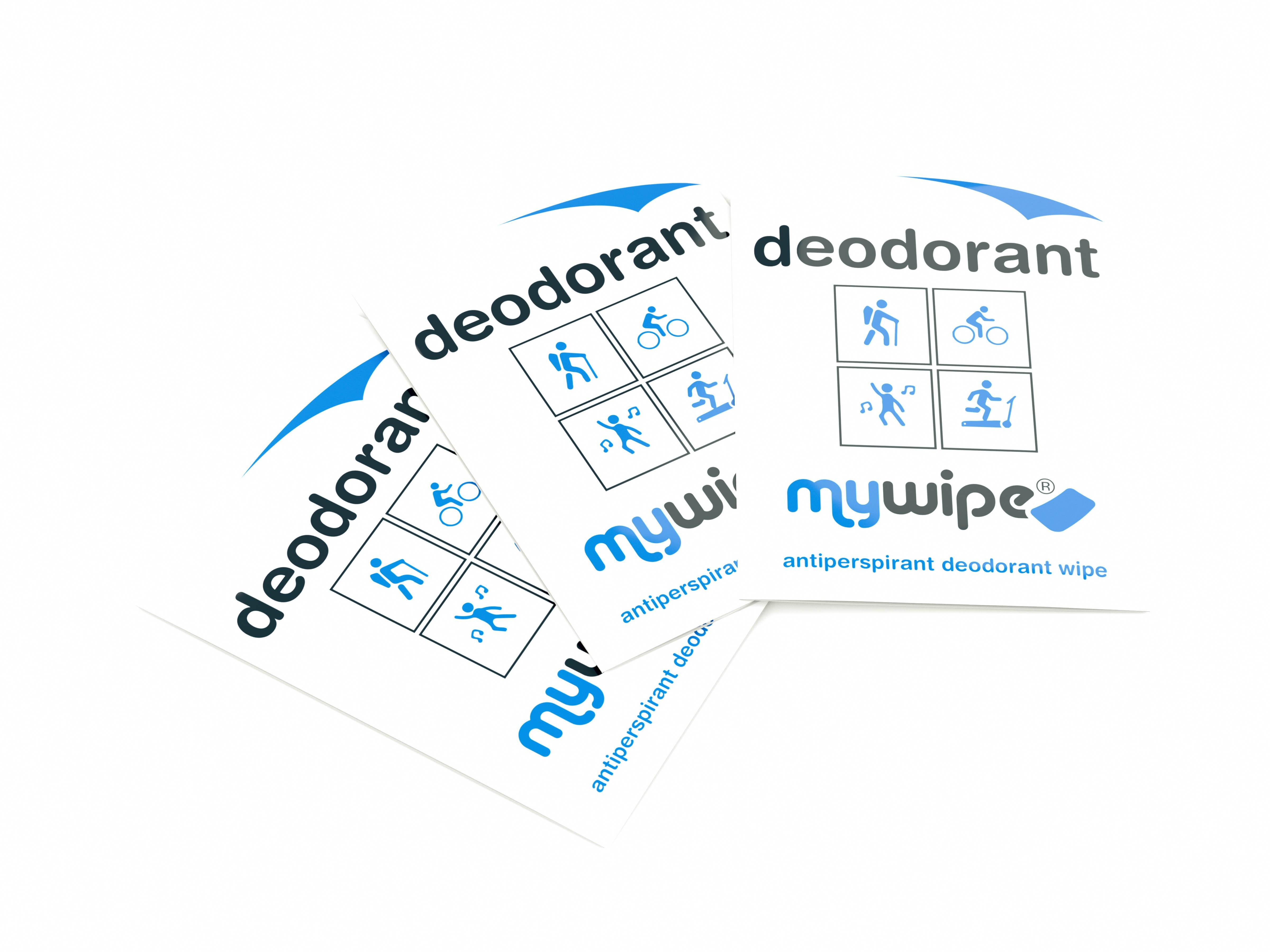 Deodorant Antiperspirant Wipes - Case of 1000