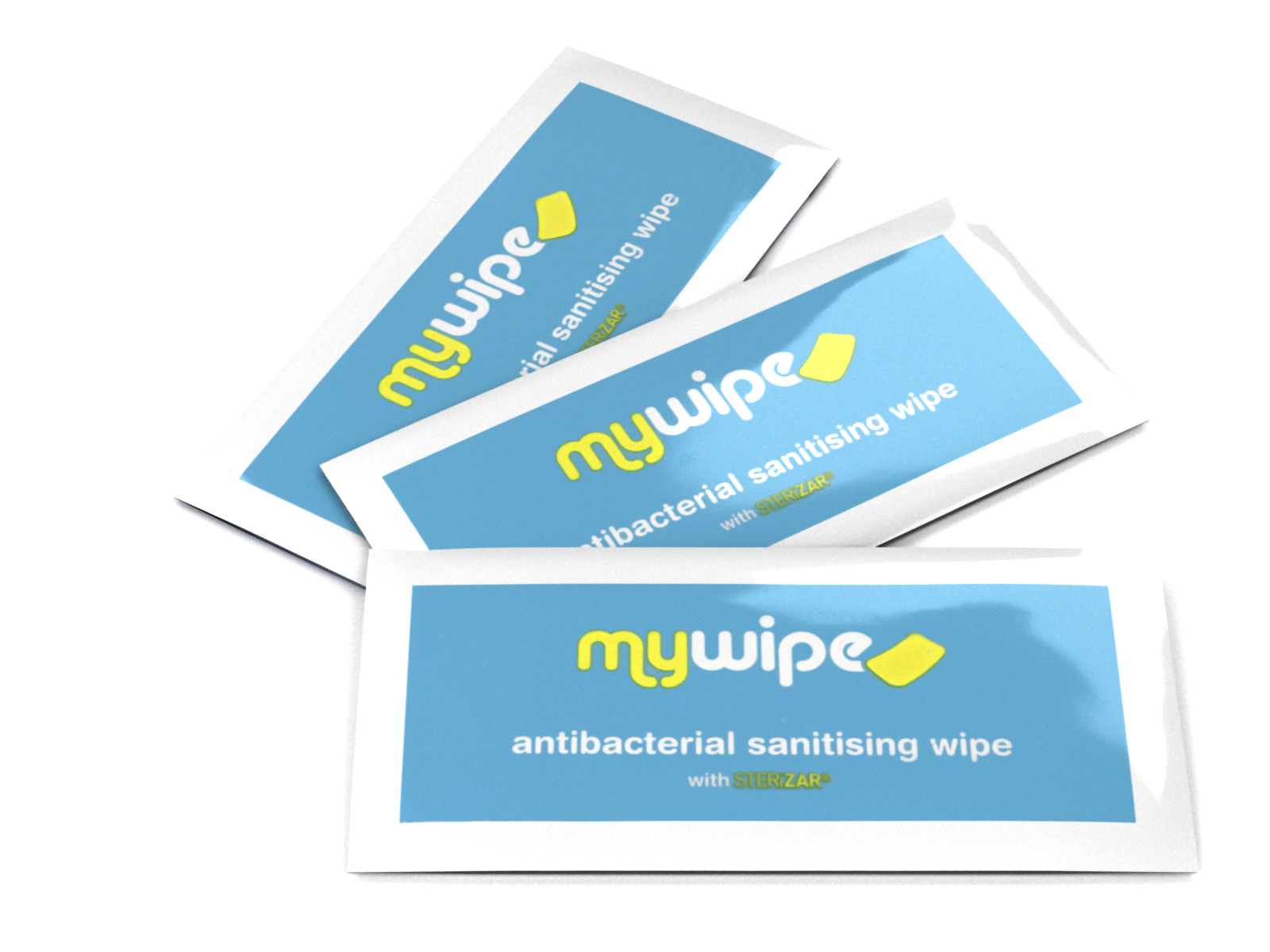Antibacterial & Antiviral Hand Wipes Sachets with STERiZAR® - Case of 500