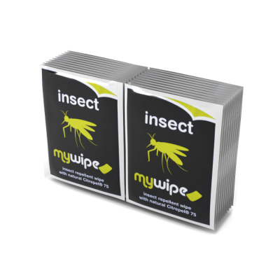 Insect Repellent Wipes Sachets - Bag of 20